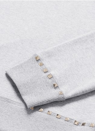 Detail View - Click To Enlarge - Valentino - 'Rockstud Untitled 08' cotton blend sweatshirt