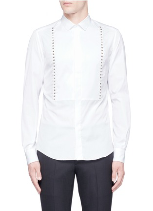 Main View - Click To Enlarge - Valentino - 'Rockstud Untitled 05' slim fit shirt
