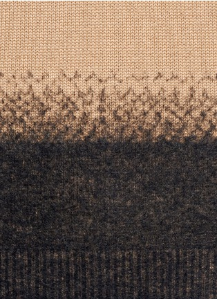Detail View - Click To Enlarge - Valentino - Needle punch hem cashmere-wool sweater