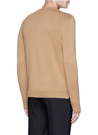 Back View - Click To Enlarge - Valentino - Needle punch hem cashmere-wool sweater