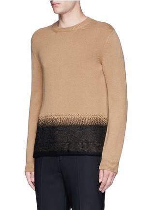 Front View - Click To Enlarge - Valentino - Needle punch hem cashmere-wool sweater
