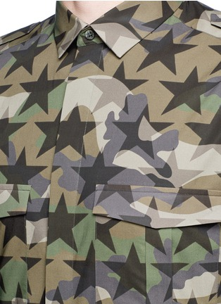 Detail View - Click To Enlarge - Valentino - 'Camustars' cotton poplin shirt