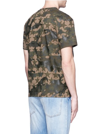 Back View - Click To Enlarge - Valentino - 'Camustars' cotton T-shirt