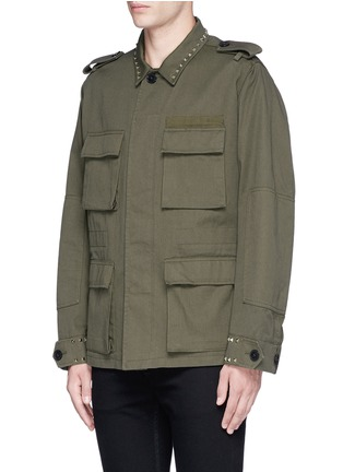 Front View - Click To Enlarge - Valentino - 'Rockstud Untitled 03' field jacket