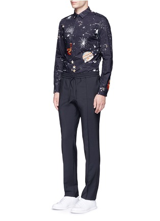 Figure View - Click To Enlarge - VALENTINO - 'Cosmo' print cotton poplin shirt