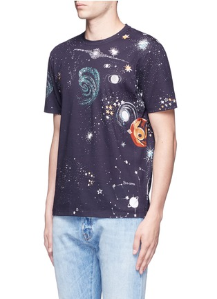 Front View - Click To Enlarge - Valentino - 'Cosmo' print T-shirt