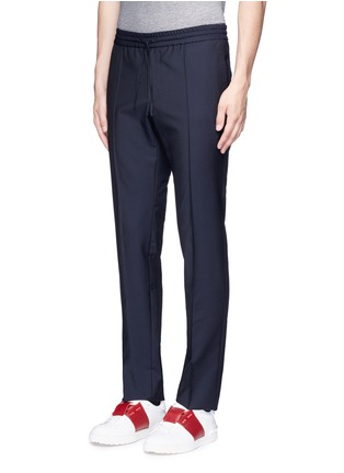 Front View - Click To Enlarge - Valentino - Tailored wool-Mohair jogging pants