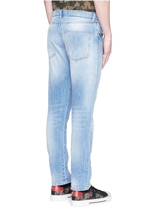 Back View - Click To Enlarge - Valentino - 'Rockstud Untitled 06' denim chinos