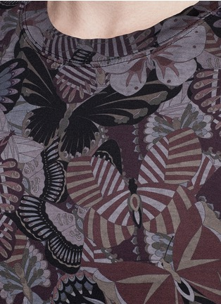 Detail View - Click To Enlarge - Valentino - 'Camubutterfly' print T-shirt