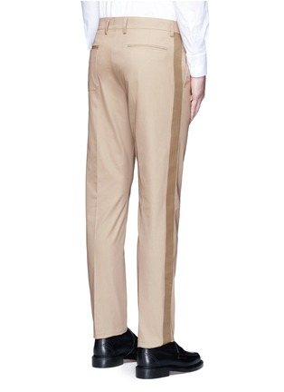 Back View - Click To Enlarge - Valentino - Side stripe cotton blend chinos