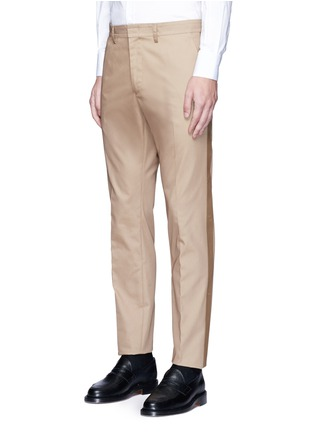 Front View - Click To Enlarge - Valentino - Side stripe cotton blend chinos