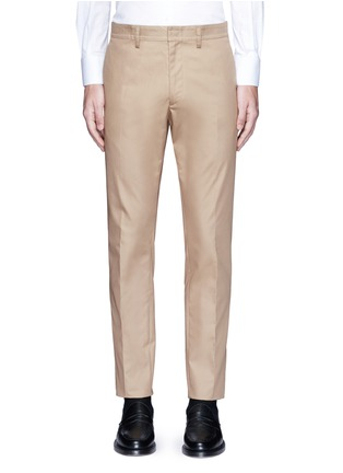Main View - Click To Enlarge - Valentino - Side stripe cotton blend chinos