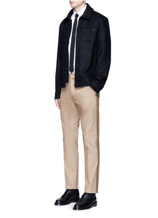 Figure View - Click To Enlarge - Valentino - Side stripe cotton blend chinos