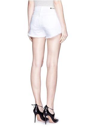 Back View - Click To Enlarge - L'Agence - 'Zoé' frayed denim Le Vintage shorts