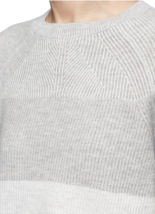 Detail View - Click To Enlarge - VINCE - Colourblock rib wool-cashmere sweater