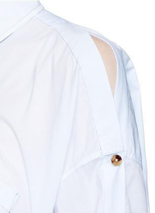 Detail View - Click To Enlarge - Helmut Lang - Split placket shoulder cotton lawn shirt