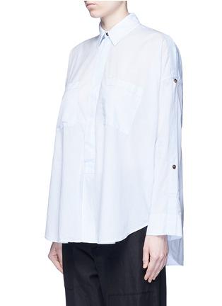 Front View - Click To Enlarge - Helmut Lang - Split placket shoulder cotton lawn shirt