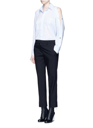 Figure View - Click To Enlarge - Helmut Lang - Split placket shoulder cotton lawn shirt