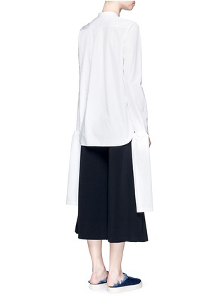 Back View - Click To Enlarge - Ports 1961 - Extended sleeve cotton poplin shirt