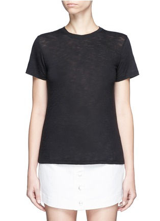 Main View - Click To Enlarge - Vince - Heathered slub jersey T-shirt