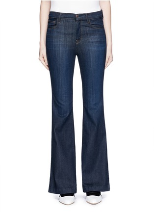 Detail View - Click To Enlarge - J Brand - 'Maria Flare' high waist jeans
