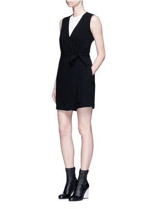 Figure View - Click To Enlarge - Theory - 'Benina' surplice crepe rompers