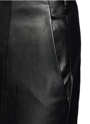 Detail View - Click To Enlarge - Vince - Seamed leather culottes