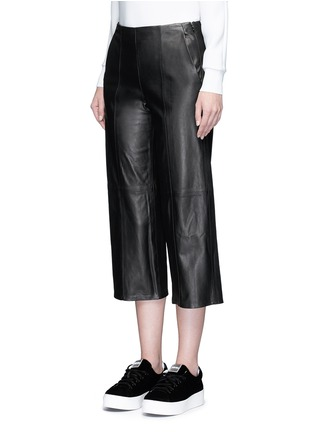 Front View - Click To Enlarge - Vince - Seamed leather culottes