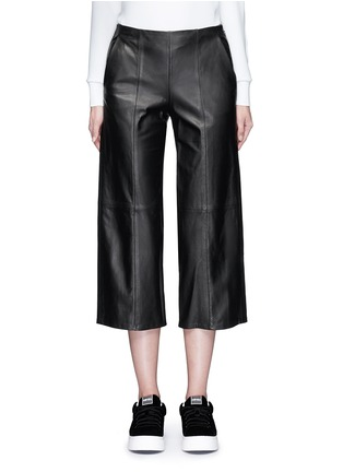 Main View - Click To Enlarge - Vince - Seamed leather culottes