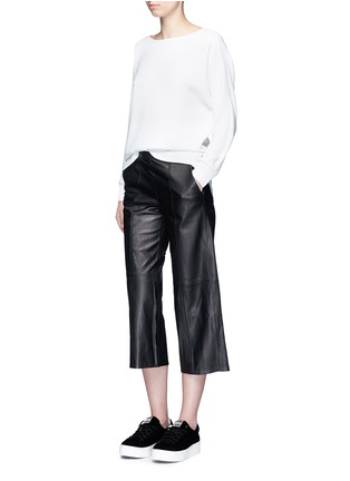 Figure View - Click To Enlarge - Vince - Seamed leather culottes