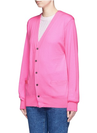 Front View - Click To Enlarge - TOGA ARCHIVES - Crossbody sash wool cardigan