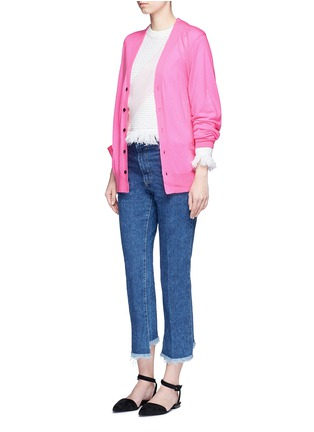 Figure View - Click To Enlarge - TOGA ARCHIVES - Crossbody sash wool cardigan