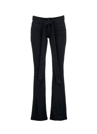 Main View - Click To Enlarge - MSGM - Belted cotton flared jeans