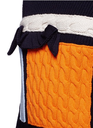 Detail View - Click To Enlarge - MSGM - Collage intarsia virgin wool knit sweater
