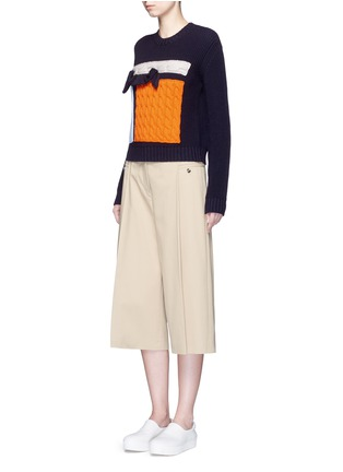 Figure View - Click To Enlarge - MSGM - Collage intarsia virgin wool knit sweater