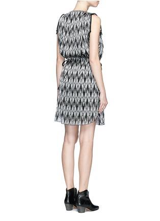 Back View - Click To Enlarge - Isabel Marant - 'Galise' geometric jacquard chiffon dress