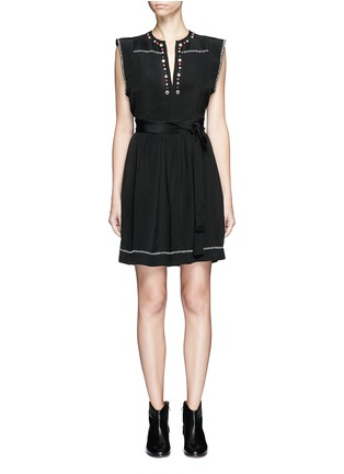 Main View - Click To Enlarge - Isabel Marant - 'Fergie' eyelet embellished butterfly sleeve silk dress