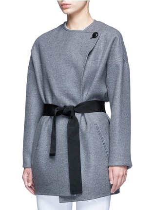 Front View - Click To Enlarge - Isabel Marant - 'Feodor' wool-cashmere drape coat