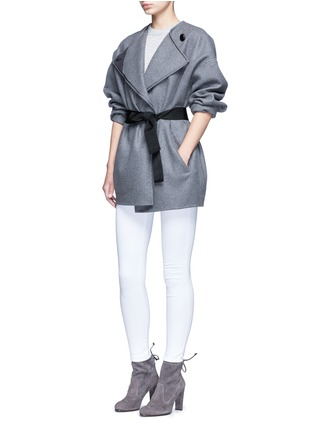 Figure View - Click To Enlarge - Isabel Marant - 'Feodor' wool-cashmere drape coat