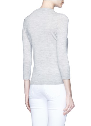 Back View - Click To Enlarge - ISABEL MARANT - 'Chris' chunky knit neck Merino wool sweater