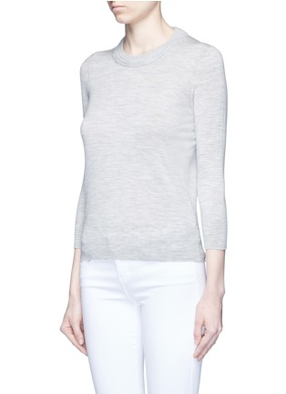 Front View - Click To Enlarge - Isabel Marant - 'Chris' chunky knit neck Merino wool sweater