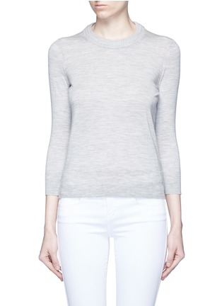 Main View - Click To Enlarge - Isabel Marant - 'Chris' chunky knit neck Merino wool sweater