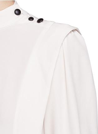 Detail View - Click To Enlarge - Isabel Marant - 'Belissa' shoulder button drape crepe top