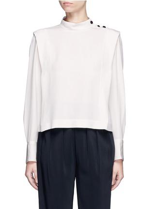 Main View - Click To Enlarge - Isabel Marant - 'Belissa' shoulder button drape crepe top