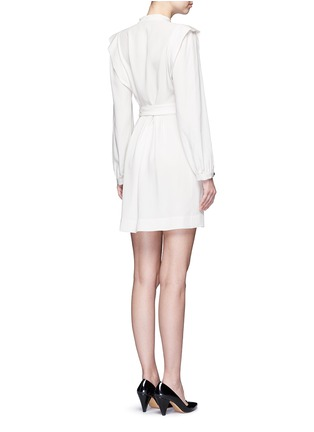 Back View - Click To Enlarge - ISABEL MARANT - 'Brad' sash tie surplice crepe dress