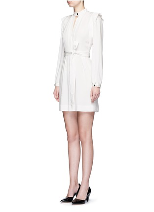 Front View - Click To Enlarge - Isabel Marant - 'Brad' sash tie surplice crepe dress