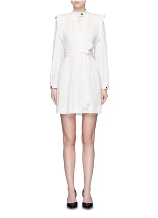 Main View - Click To Enlarge - Isabel Marant - 'Brad' sash tie surplice crepe dress