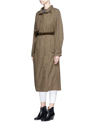 Detail View - Click To Enlarge - ISABEL MARANT - 'Dracen' belted nylon raincoat