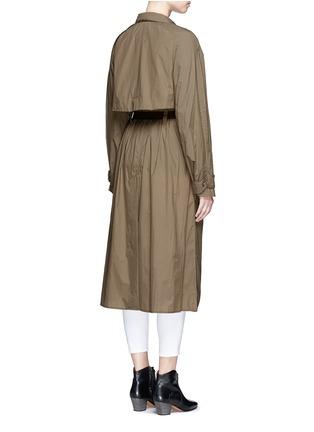 Back View - Click To Enlarge - ISABEL MARANT - 'Dracen' belted nylon raincoat