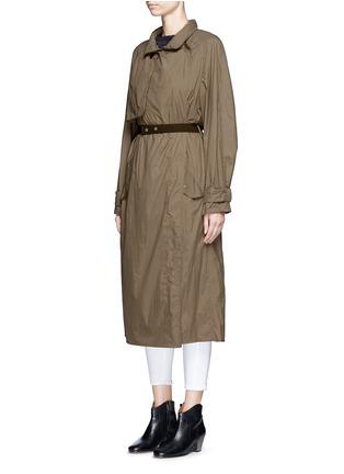 Front View - Click To Enlarge - ISABEL MARANT - 'Dracen' belted nylon raincoat